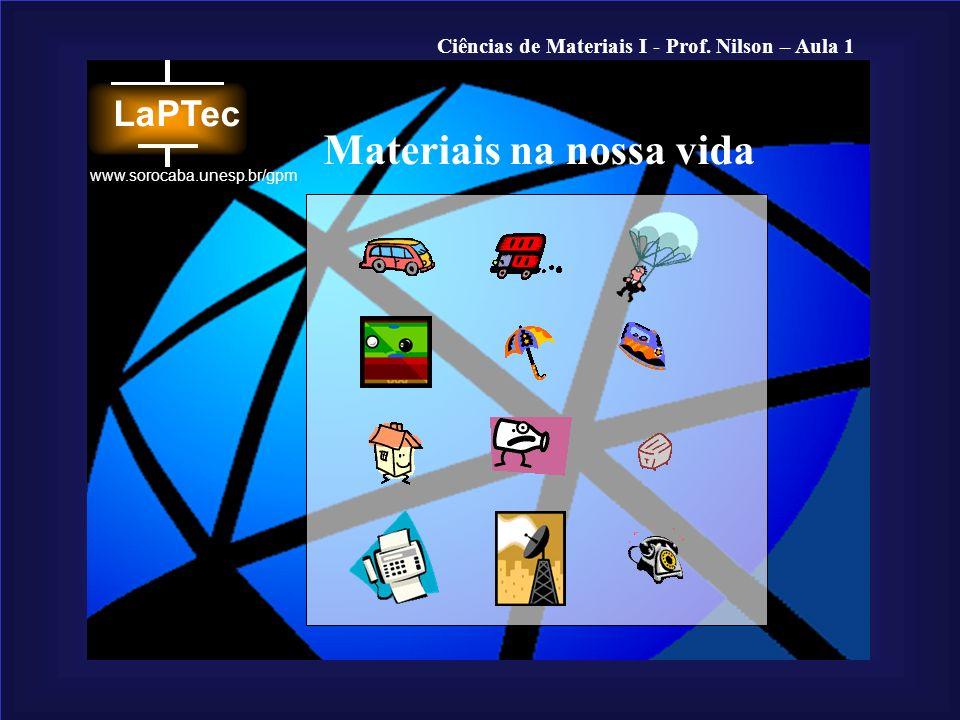 Ciências de Materiais I - Prof. Nilson – Aula 1 www.sorocaba.unesp.br/gpm