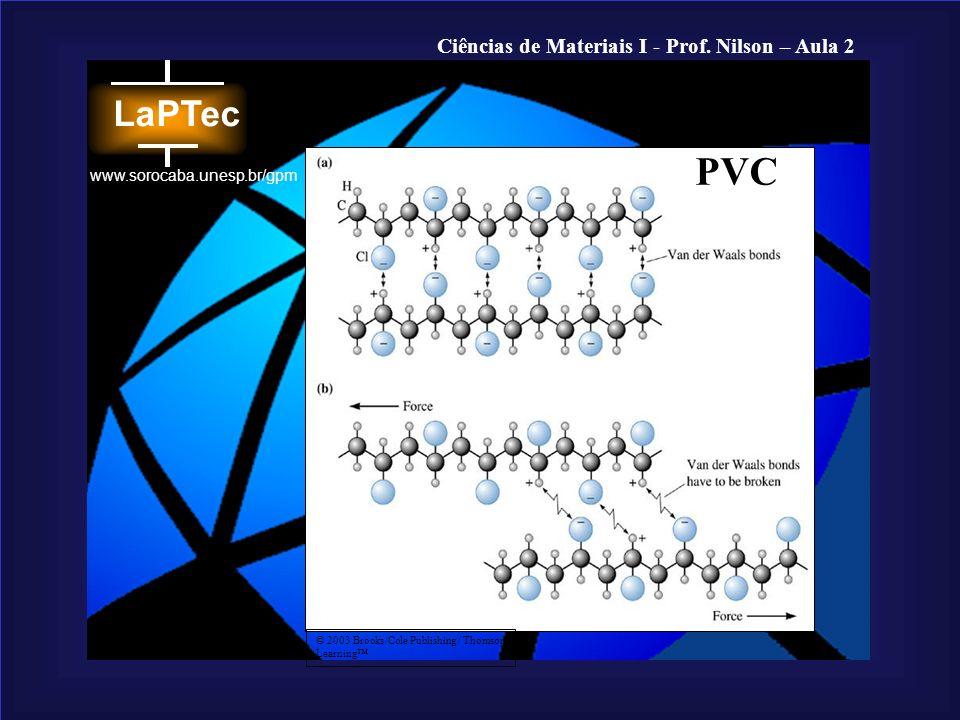 Ciências de Materiais I - Prof. Nilson – Aula 2 www.sorocaba.unesp.br/gpm © 2003 Brooks/Cole Publishing / Thomson Learning PVC