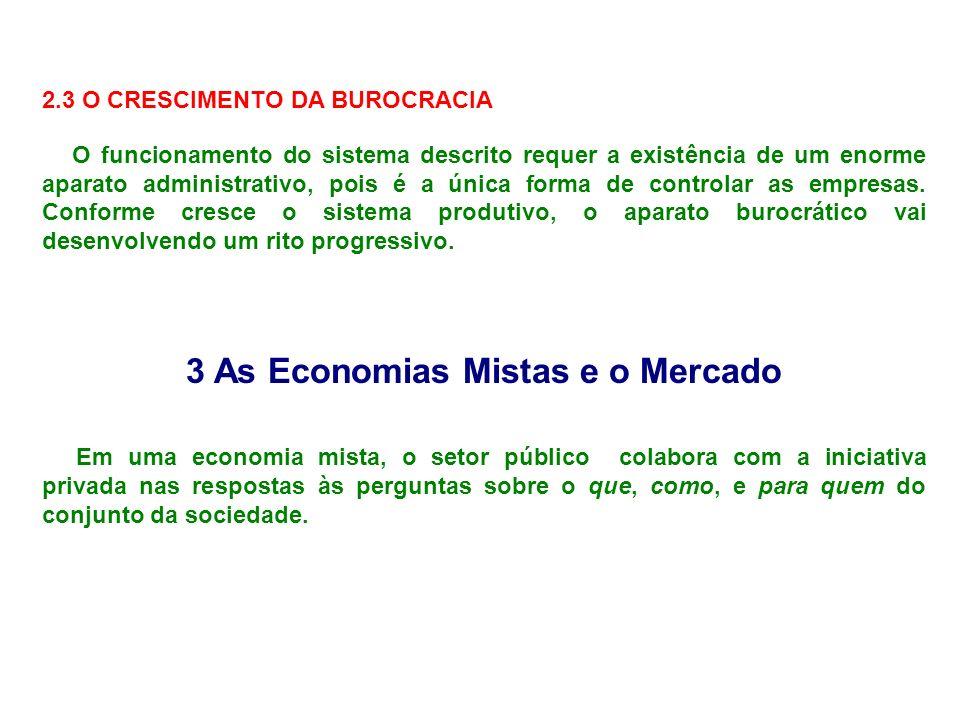 2.3 O CRESCIMENTO DA BUROCRACIA O funcionamento do sistema descrito requer a existência de um enorme aparato administrativo, pois é a única forma de c