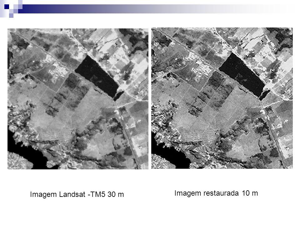 Imagem Landsat -TM5 30 m Imagem restaurada 10 m
