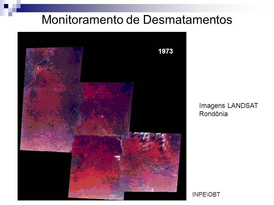 Monitoramento de Desmatamentos 1973 Imagens LANDSAT Rondônia INPE\OBT