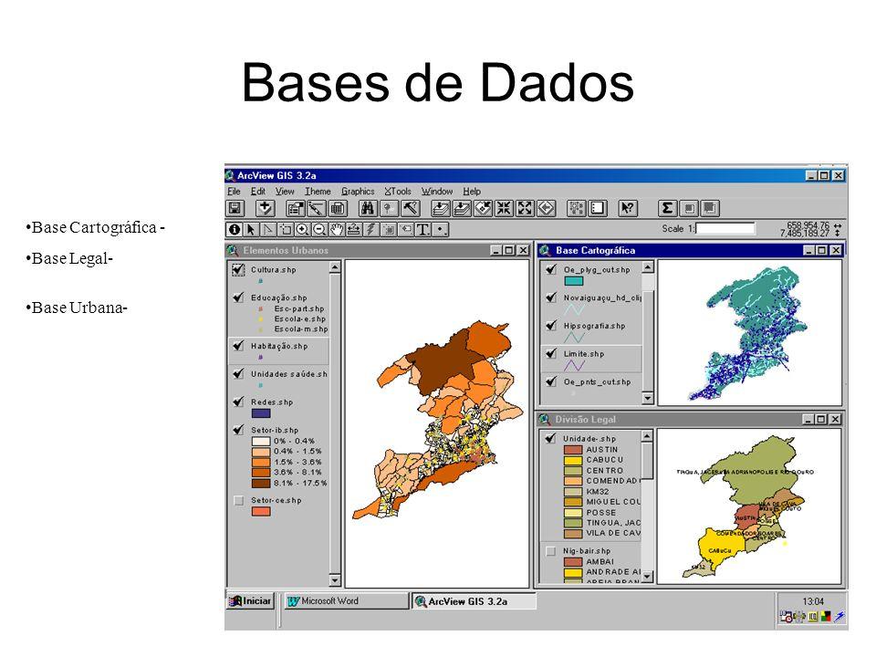 gdornele@posgrad.nce.ufrj.br Bases de Dados Base Cartográfica - Base Legal- Base Urbana-