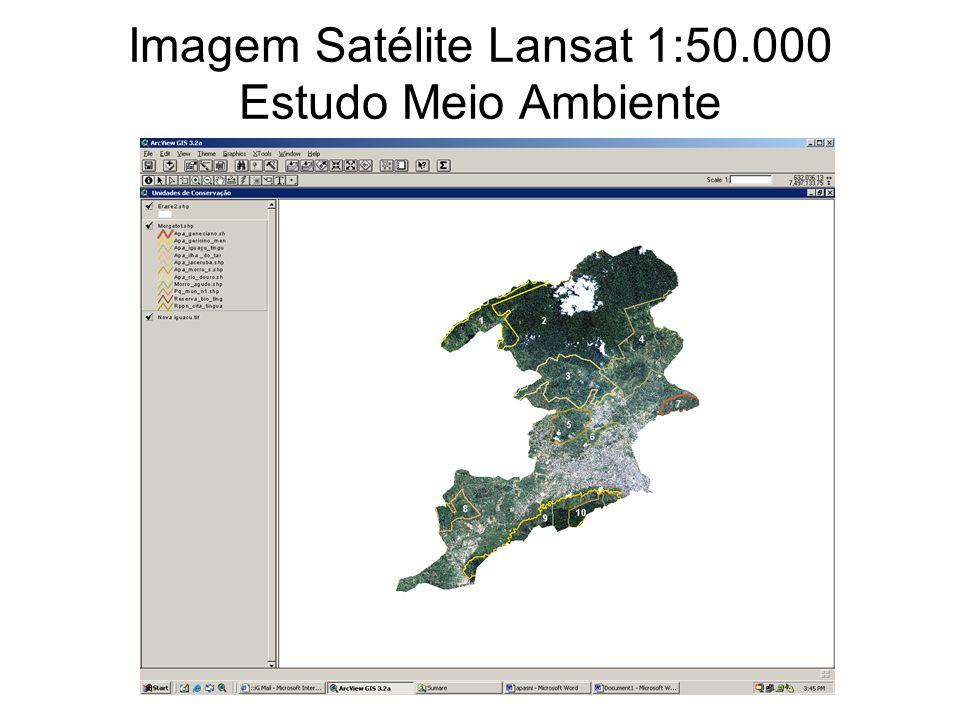 gdornele@posgrad.nce.ufrj.br Imagem Satélite Lansat 1:50.000 Estudo Meio Ambiente
