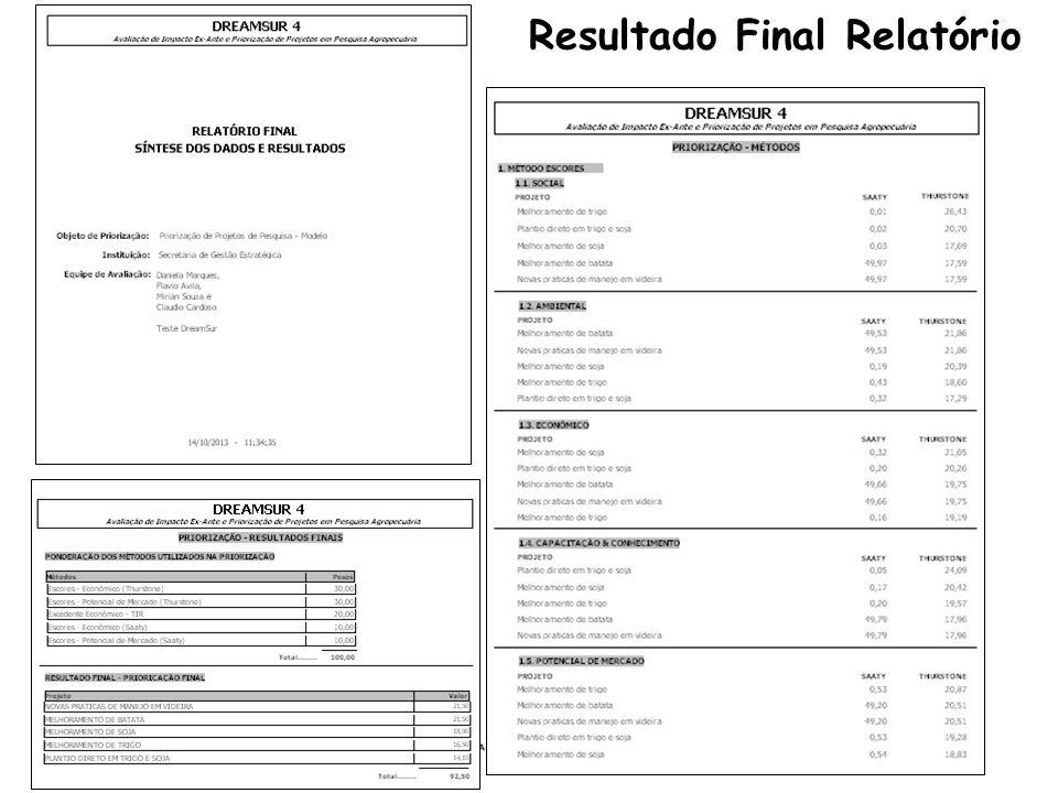 Resultado Final Relatório