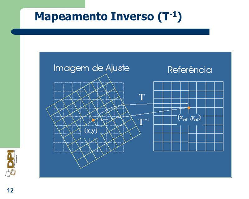 12 Mapeamento Inverso (T -1 )