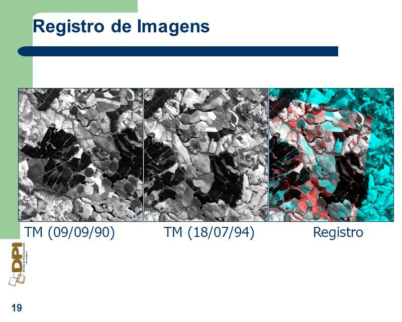 19 Registro de Imagens TM (09/09/90) TM (18/07/94) Registro