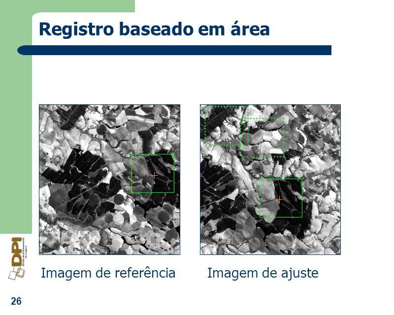 26 Registro baseado em área Imagem de referênciaImagem de ajuste