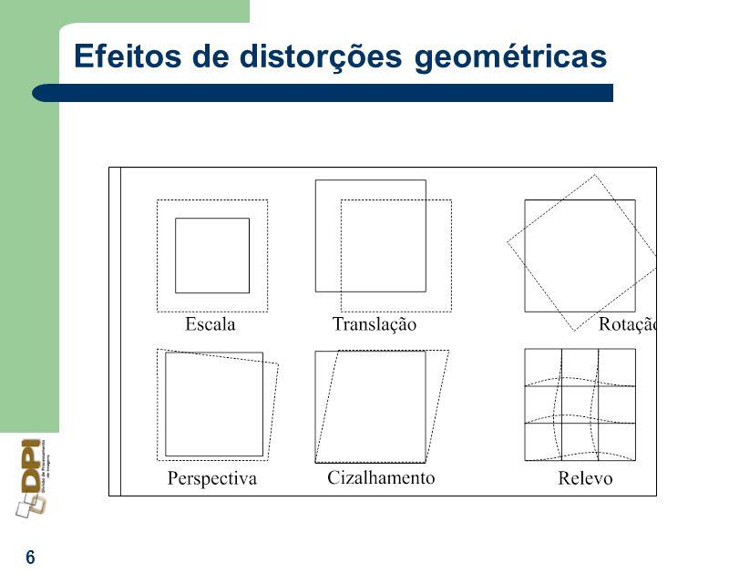 6 Efeitos de distorções geométricas