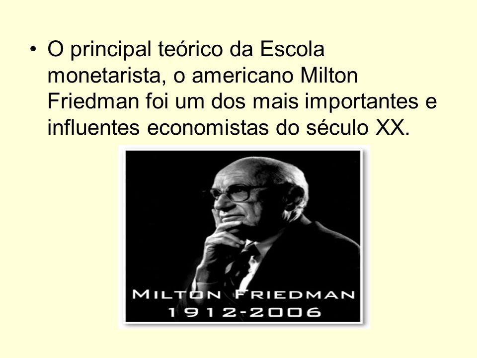 Friedman fundou a Escola Monetarista de Chicago.