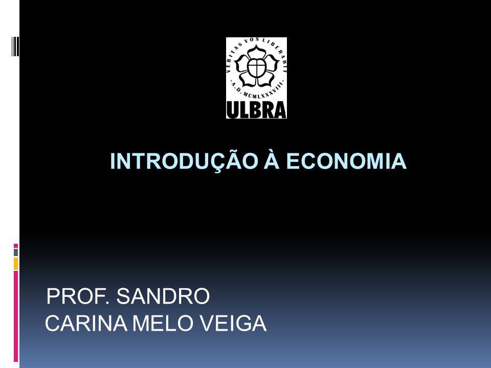 INTRODUÇÃO À ECONOMIA PROF. SANDRO CARINA MELO VEIGA