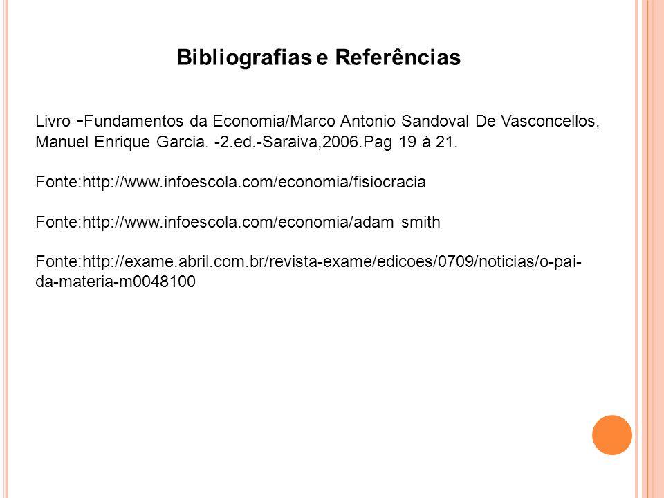 Bibliografias e Referências Livro - Fundamentos da Economia/Marco Antonio Sandoval De Vasconcellos, Manuel Enrique Garcia.