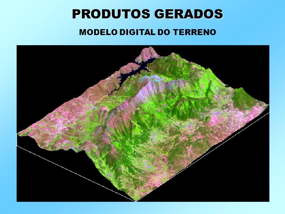 PRODUTOS GERADOS MODELO DIGITAL DO TERRENO