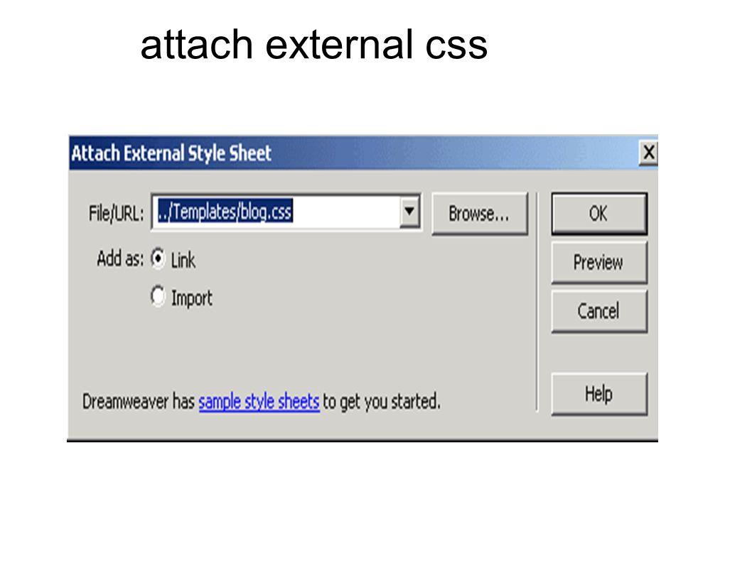 attach external css