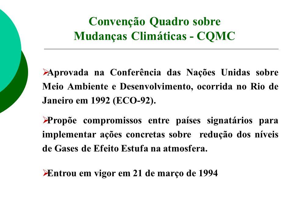 Aprovada na Conferência das Nações Unidas sobre Meio Ambiente e Desenvolvimento, ocorrida no Rio de Janeiro em 1992 (ECO-92). Propõe compromissos entr