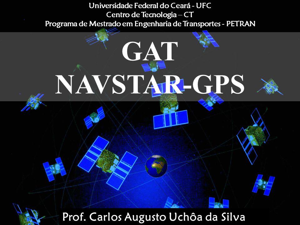 Uchôa11 GPS 20000 Km Os satélites GPS estão alto o bastante para evitar os problemas encontrados pelos sistemas terrestres de posicionamento; Acurácia suficiente para posicionamento pontual; Disponibilidade 24 horas por dia; Atualmente, pode conseguir precisões de cerca de 10 m (modo absoluto) e até poucos mm (modo relativo fase).