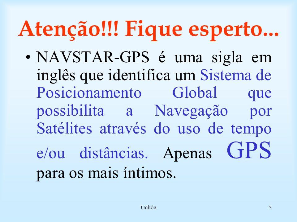 Uchôa45 Métodos de posicionamento Absoluto ou ponto simples Relativo ou diferencial Correções Diferenciais