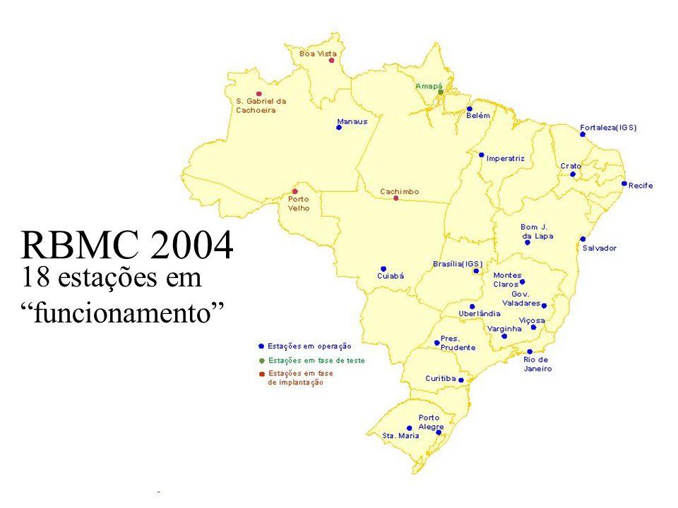Uchôa50 RBMC 2003 14 estações em funcionamento