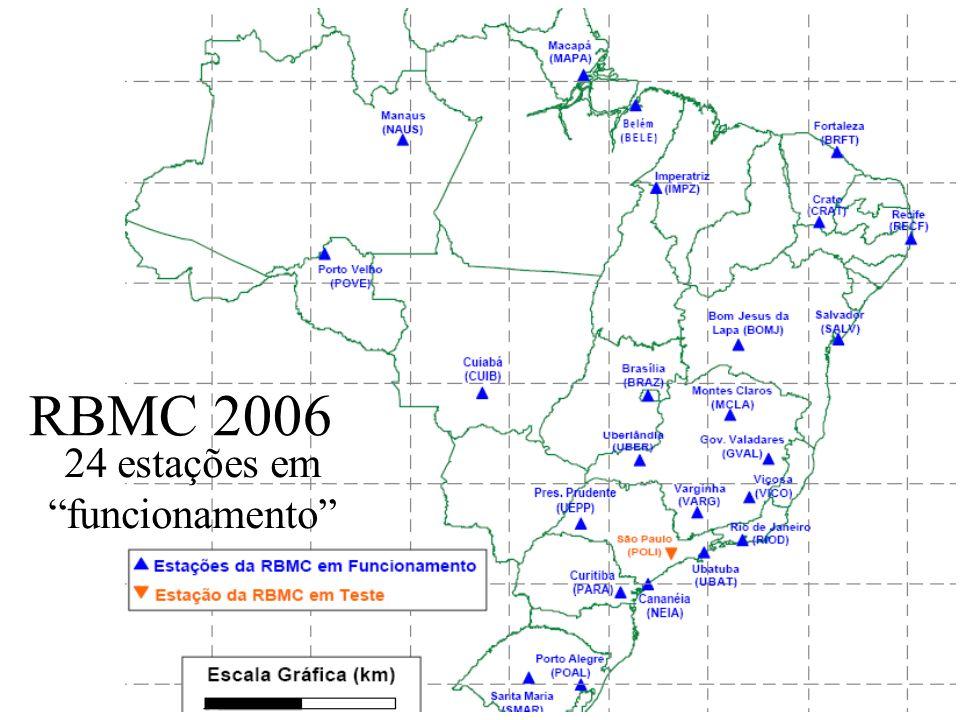 Uchôa52 RBMC 2005 19 estações em funcionamento