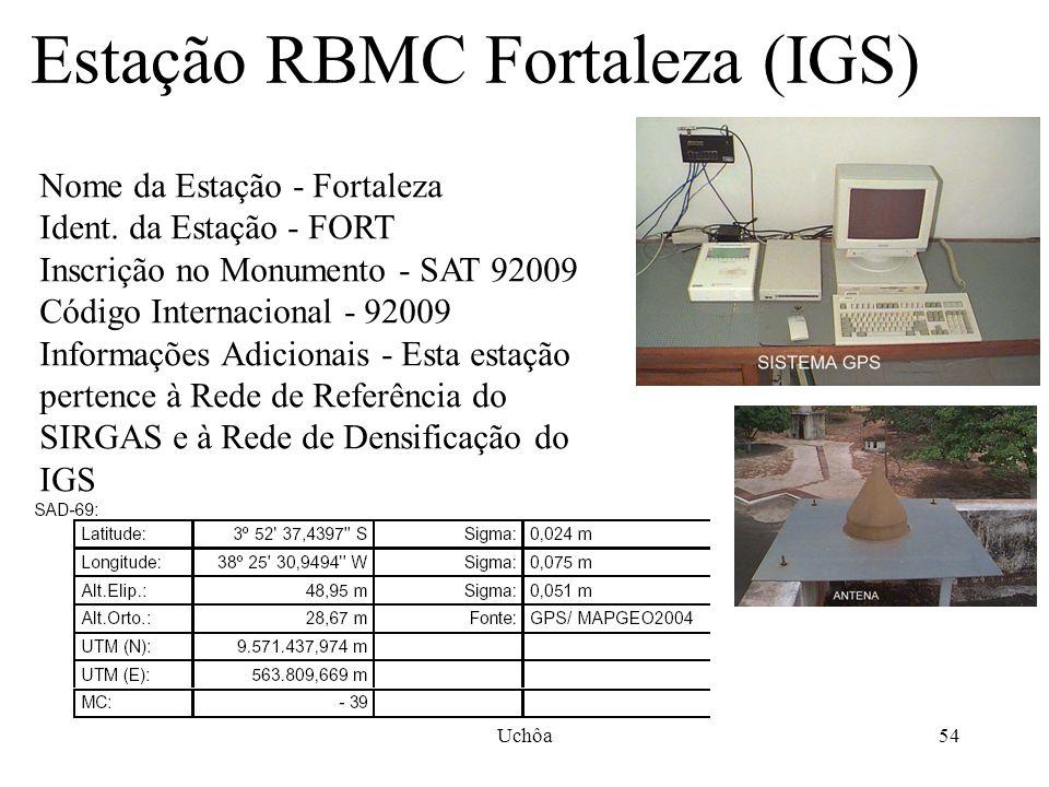 Uchôa53 24 estações em funcionamento RBMC 2006