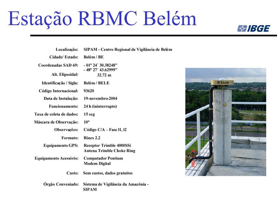 Uchôa54 Estação RBMC Fortaleza (IGS) Nome da Estação - Fortaleza Ident.