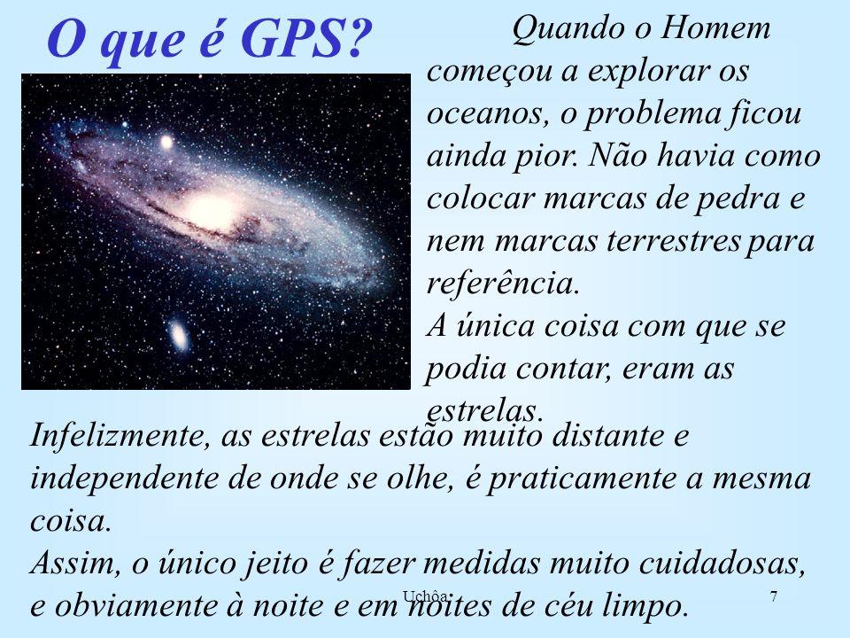 Uchôa7 O que é GPS.Quando o Homem começou a explorar os oceanos, o problema ficou ainda pior.