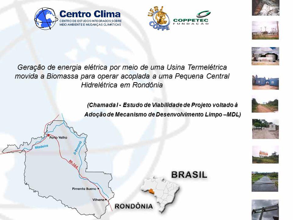 Geração de energia elétrica por meio de uma Usina Termelétrica movida a Biomassa para operar acoplada a uma Pequena Central Hidrelétrica em Rondônia (Chamada I - Estudo de Viabilidade de Projeto voltado à Adoção de Mecanismo de Desenvolvimento Limpo –MDL)