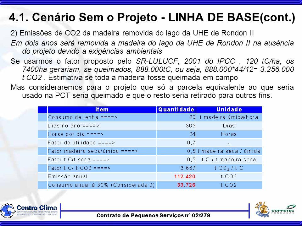 Contrato de Pequenos Serviços nº 02/279 4.1.