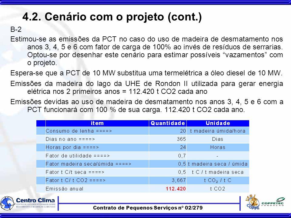Contrato de Pequenos Serviços nº 02/279 4.2.