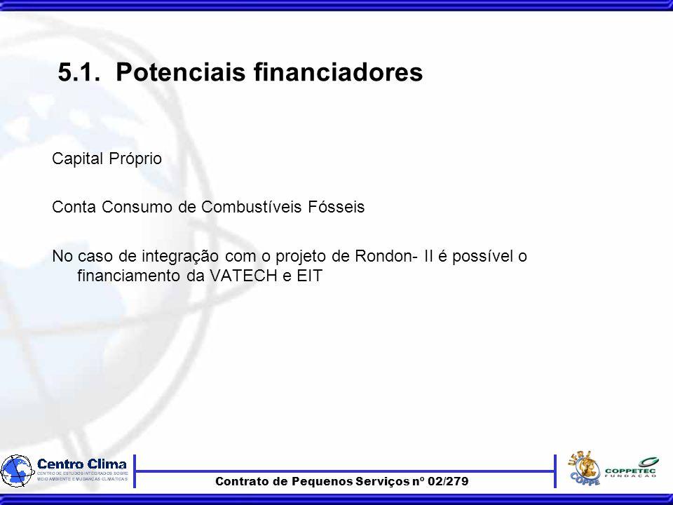 Contrato de Pequenos Serviços nº 02/279 5.1.