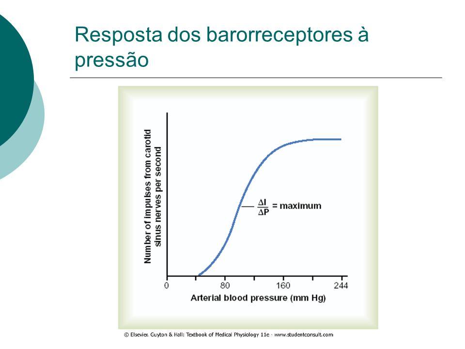 Resposta dos barorreceptores à pressão