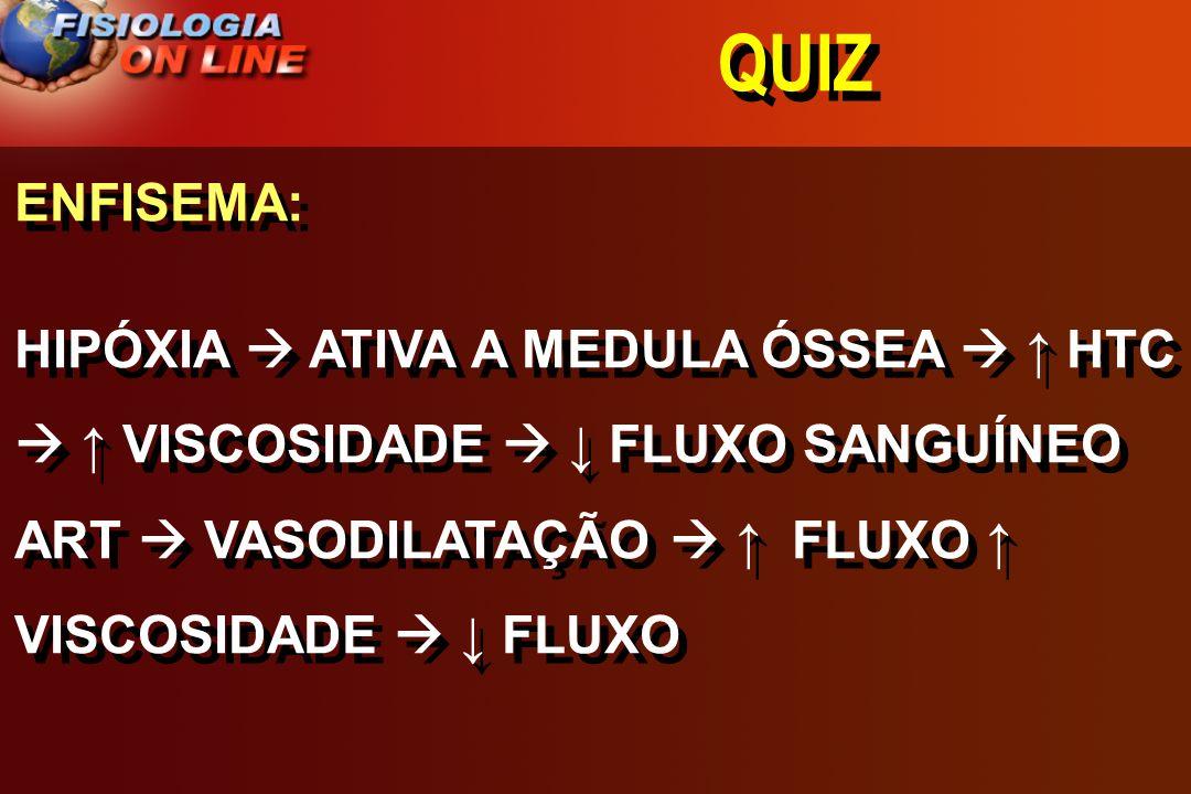 QUIZ COLOCAR EM ORDEM DECRESCENTE A) DE FLUXO SANGUÍNEO B) OXIGENAÇÃO COLOCAR EM ORDEM DECRESCENTE A) DE FLUXO SANGUÍNEO B) OXIGENAÇÃO