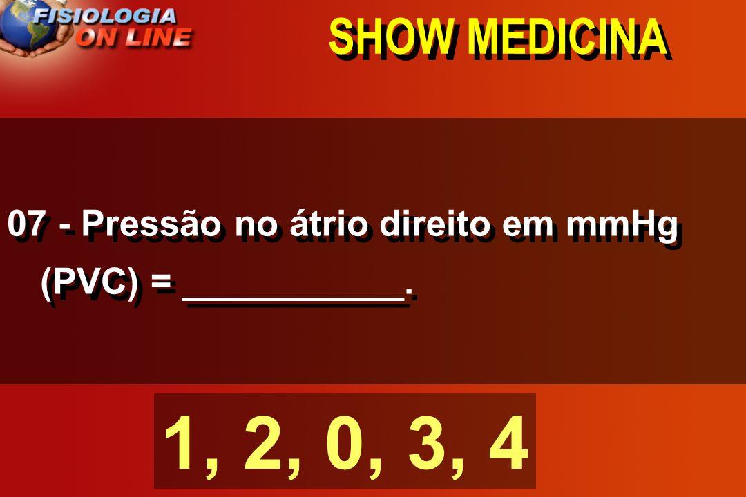 SHOW MEDICINA 06 - Velocidade nas veias é ( 1/4 ) velocidade as artérias ½, ¼, 1x, 2x