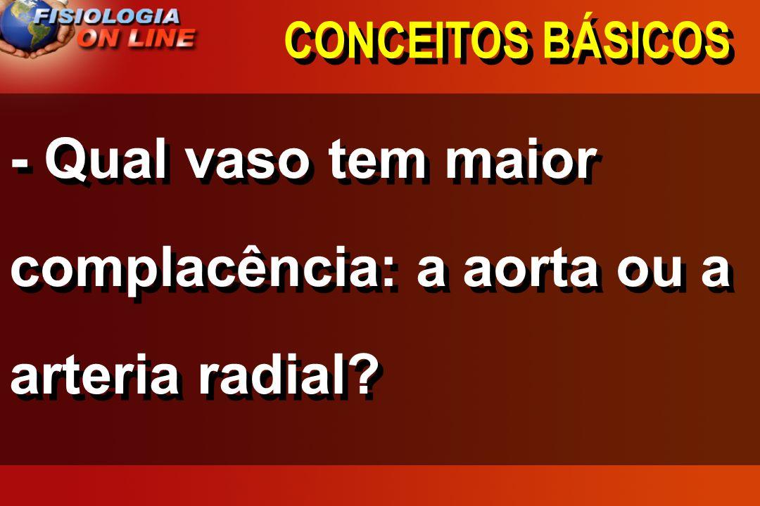 CONCEITOS BÁSICOS CAPACITÂNCIA (COMPLACÊNCIA) = V P CAPACITÂNCIA (COMPLACÊNCIA) = V P