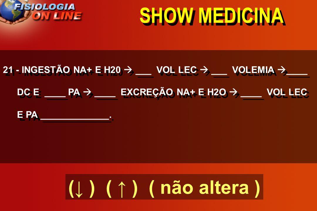 SHOW MEDICINA 20 - RV = PSM ( - ) PAD