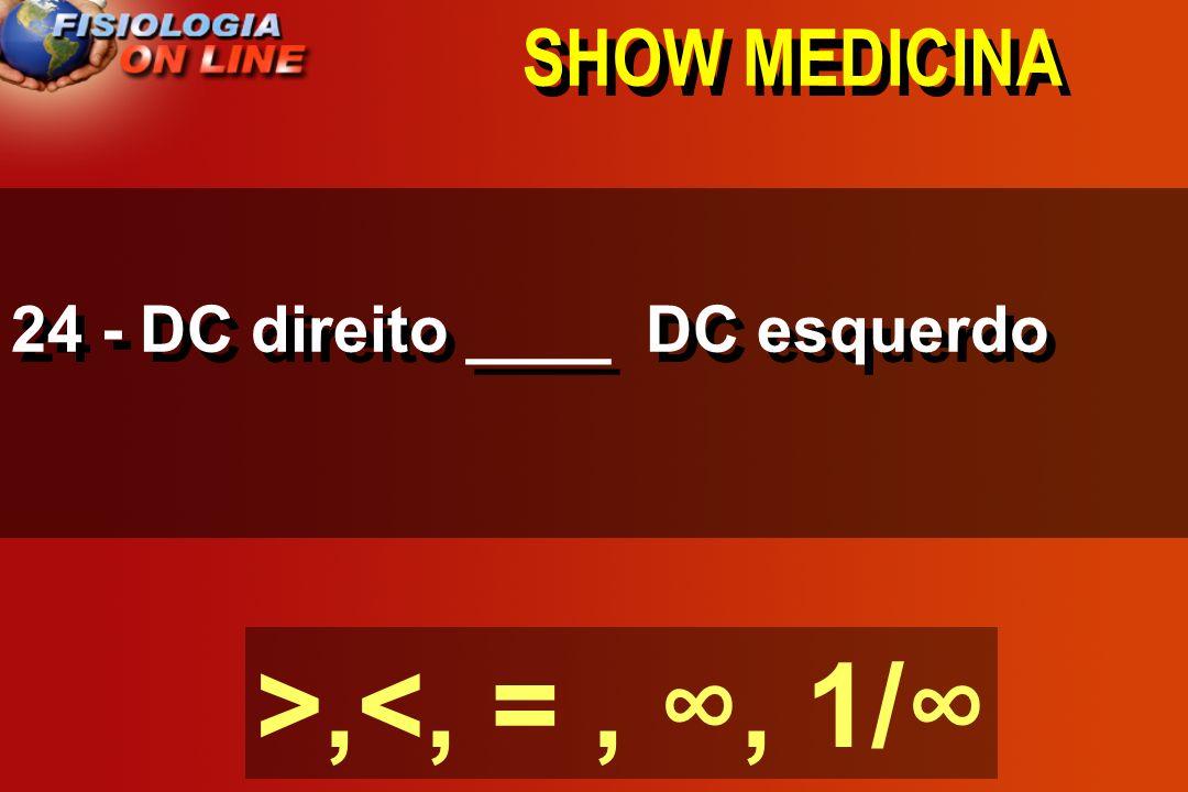 SHOW MEDICINA 23) metabolismo (vasodilatação) ( ) RPT