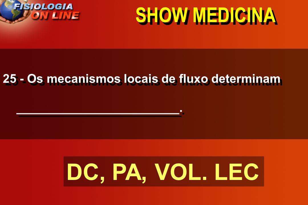 SHOW MEDICINA 24 - DC direito ( = ) DC esquerdo