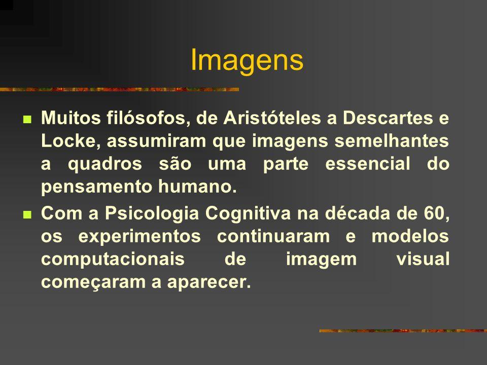 Imagens Muitos filósofos, de Aristóteles a Descartes e Locke, assumiram que imagens semelhantes a quadros são uma parte essencial do pensamento humano