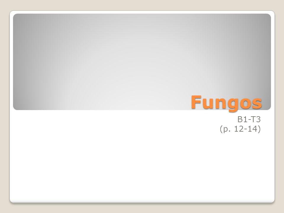 Fungos B1-T3 (p. 12-14)