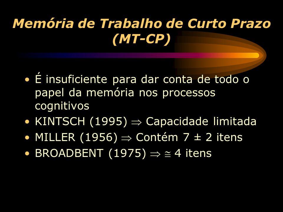 Memória de Trabalho de Curto Prazo (MT-CP)