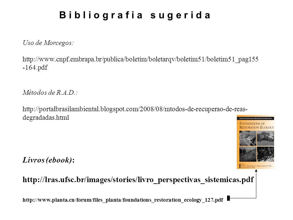 Uso de Morcegos: http://www.cnpf.embrapa.br/publica/boletim/boletarqv/boletim51/boletim51_pag155 -164.pdf Métodos de R.A.D.: http://portalbrasilambien