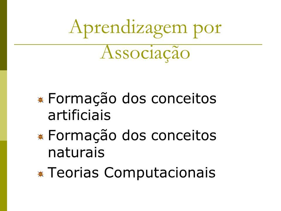 Tarefa das cartas: Conceitos conjuntivos (cartas com 2 figuras brancas e 2 linhas de contorno), conceitos disjuntivos (todas as cartas que têm 1 cruz ou 1 figura listrada), conceitos relacionais (todas as cartas que têm uma cruz têm 3 margens).