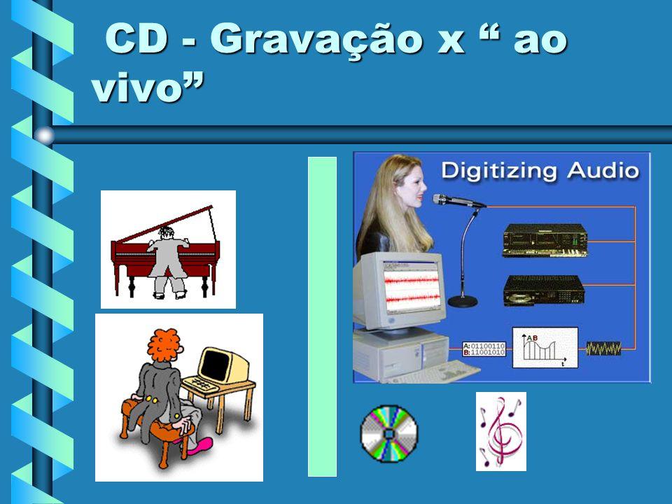 CD - Gravação x ao vivo CD - Gravação x ao vivo