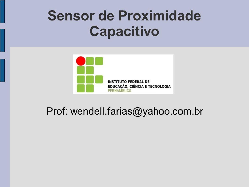 Objetivos -Familiarizar com tipo de sensores; - Verificar o funcionamento de sensor capacitivo.