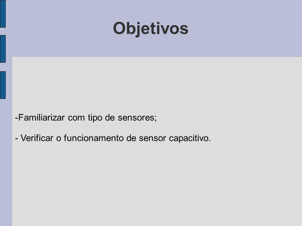 Material utilizado - Conjunto didático de sensores (Bit9); - Multímetro digital; - Régua com medidas em milímetros.