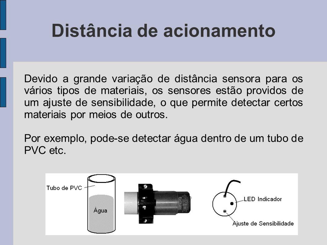Distância sensora (S) È a distância em que, aproximando-se o acionador da face sensora, o sensor muda de estado da saída.