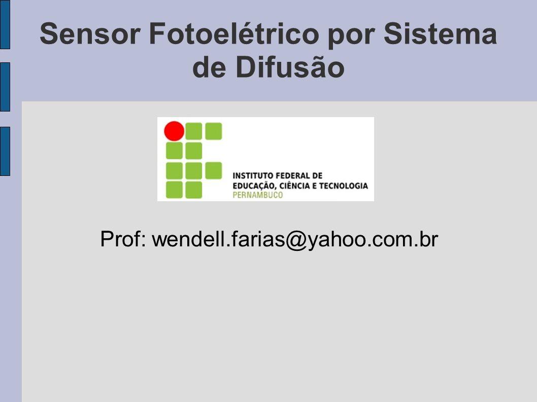 Sensor Fotoelétrico por Sistema de Difusão Prof: wendell.farias@yahoo.com.br