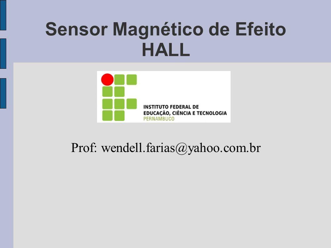 Sensor Magnético de Efeito HALL Prof: wendell.farias@yahoo.com.br