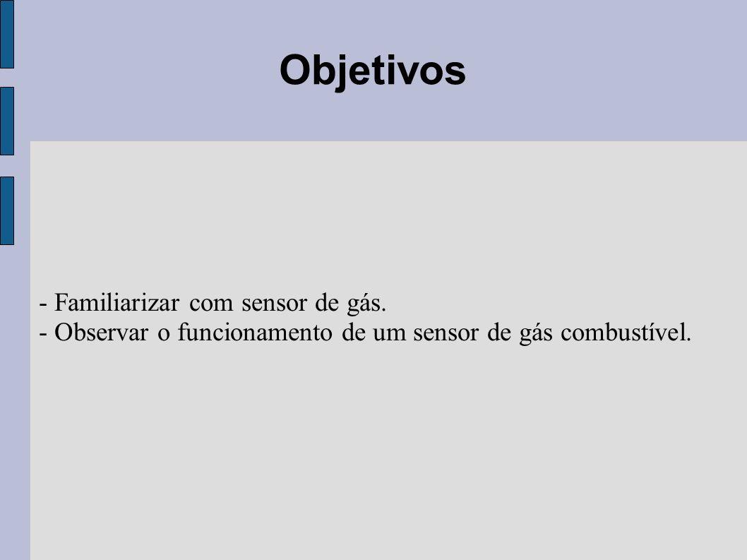 Material utilizado - Módulo: Sensor de Gás Combustível.