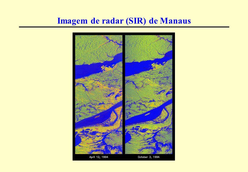 Imagem de radar (SIR) de Manaus