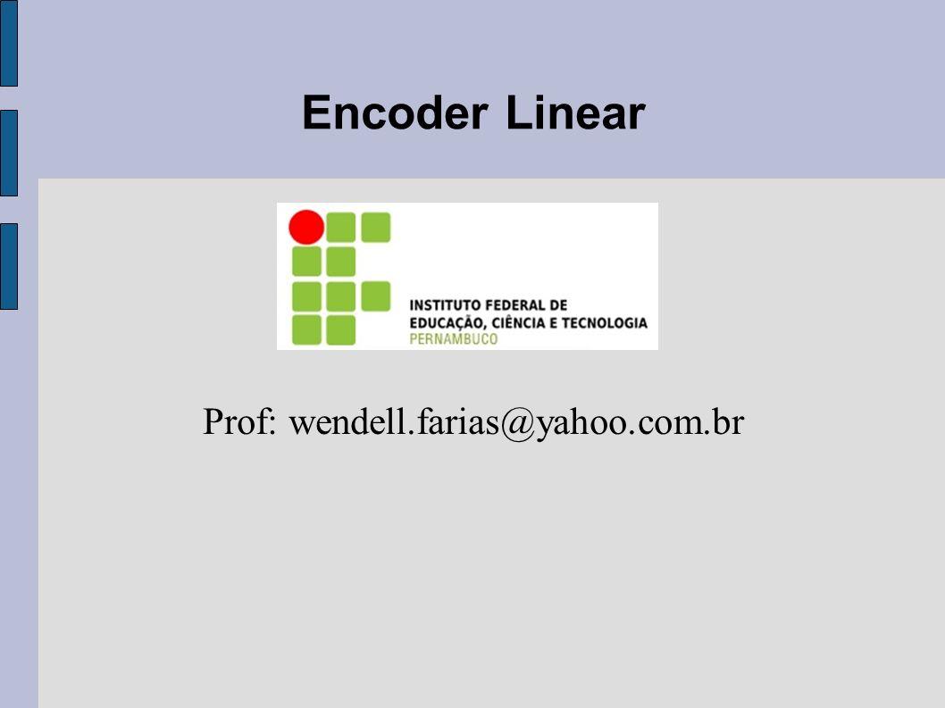 Encoder Linear Prof: wendell.farias@yahoo.com.br